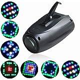 UKing Lampe de Scène 20W RGBW 64 Led Image Projecteur Petite Dirigeable Lumières Commande Vocale Effet Éclairage pour Anniver