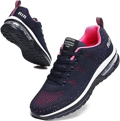 BUBUDENG Women's Trainers Air Cushion Sneakers Walking Casual Running Shoes Gym Sport Lightweight Tennis Shoes