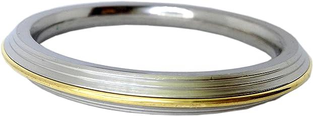 Brass & Stainless Steel Punjabi Kada bracelet for Men (1 cm thick)