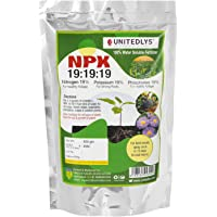 Unitedlys® NPK 19 19 19 Fertilizer for Plants and Gardening Complete Plant Food, Growth Boost and Flowering | 400 Grams…