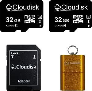 Cloudisk 2pack Micro Sd Karte Mit Microsd Adapter Speicherkarte Class10