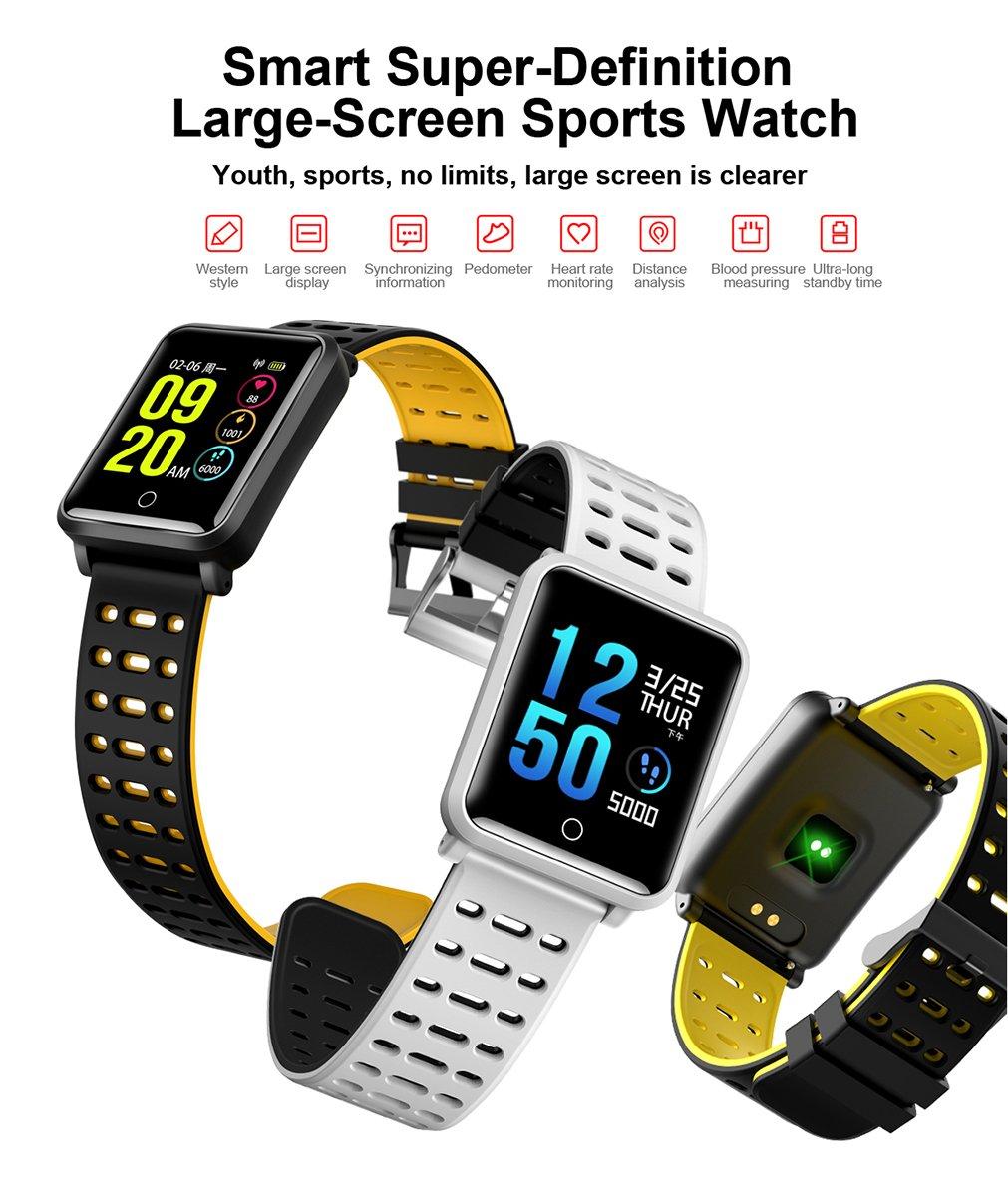 TagoBee TB06 IP68 a Prueba de Agua Smart Watch HD Touch Screen Fitness Tracker Soporte de presión Arterial frecuencia… 1