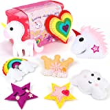 Tacobear Kit de Costura Niños Unicornio Costura Fieltro Manualidades Niños Cumpleaños Unicornio Creativo Regalo para Niños Ni