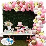 127Pcs Kit ghirlanda palloncino SPECOOL Kit arco palloncini Rosa bianca e oro Confetti palloncini lattice riempito Con pallon