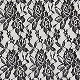 Fabulous Fabrics Spitze Leicht schwarz - Meterware ab 0,5m