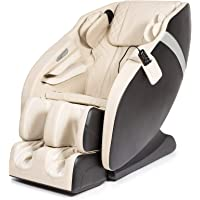 KARMA® 2D Fauteuil de massage – Blanc (modèle 2021) - 6 programmes de massage professionnels, pressothérapie…