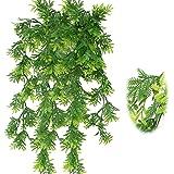 RtottiM 2 stycken konstgjorda hängväxter 75 cm hängande ormbunke konstgjorda gröna växter plastväxter för bröllop hem trädgår