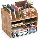 Organiseur Bureau Bois,Lesfit Set De Rangement Bureau Design,Organisateur De Bureau Multifonction Pour Stylo Crayon A4 Papier