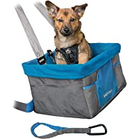 Kurgo Siège rehausseur de voiture pour chien, pour petits chiens ou chats, ceinture de sécurité, siège d'auto pour chien…