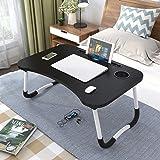 طاولة صغيرة قابلة للطي ومكتب للابتوب، 6 الوان (اللون: زهري) اسود)