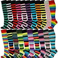 Mysocks Unisex Knee High Stripe Socks