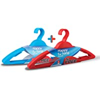 Happy To Hang 6+6 Piece Polypropylene Hanger, Red and Blue (Buy 1 Get 1 Free)