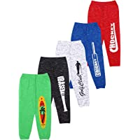 KYDA KIDS 100% Cotton 2-Side Packet Track Pant for Boys and Girls - Loose Fit Pants, Multicolor (Pack of 5)