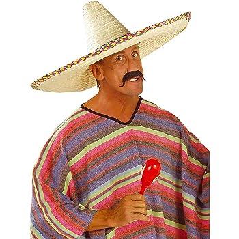 Sombrero messicano cappello di paglia formato gigante copricapo estivo per  party e feste in maschera - Altezza 22cm 401ac6b65e74