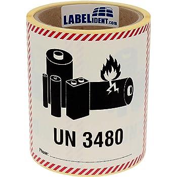 Transportaufkleber Un 3481 Enthält Lithium Ionen