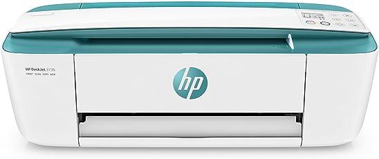 HP DeskJet 3735 Stampante Multifunzione con 3 Mesi di Prova Gratuita del Servizio Instant Ink, Verde