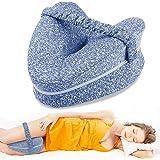 Almohadas posicionadoras de Pierna– Mejor para Pierna, Espalda, y Rodilla Pain- cuña de Espuma con Efecto Memoria Contour Pie