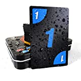 UNO Card Game Board Game 112 Cards PVC Waterproof Flexible Cards with Premium Steal Case for Family Game and Party Game