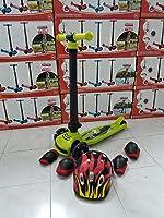 Pilsan Katlanabilir Scooter Işıklı 3 Tekerlekli Kask DizlİK Dirseklik Fullset Yeşil