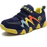 Zapatillas Deportivas para Niños Niña Antideslizante Calzado de Running Correr para Exterior Interior Velcro Ligero Transpira