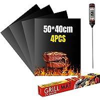 VLVEE Set de 4 Tapis de Cuisson Tapis BBQ Barbecue Plaque Feuille de Cuisson Four,Réutilisable Nettoyable, 40 * 50cm…