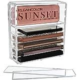 Discoball Boîte de rangement compacte en acrylique à 8 compartiments pour fards à paupières et accessoires de maquillage avec