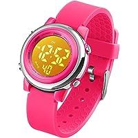 Orologio per ragazze digitale e impermeabile, orologi elettrici per bambini per sport all'aria aperta, orologi da polso…