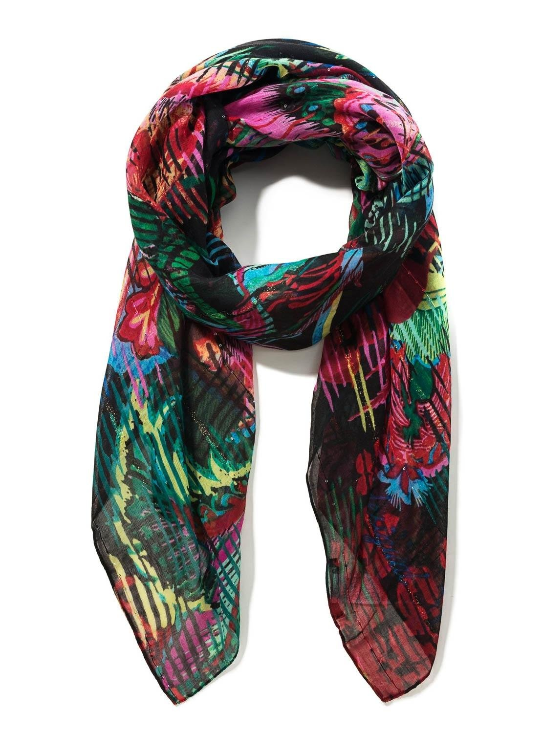 desigual foulard  Desigual Foulard Ramona nero Donna - Girls like you