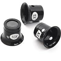 TRIXES Set di lenti d'ingrandimento da gioielliere orologiaio 3 pezzi
