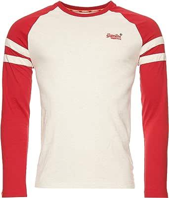 Superdry Men's Ol Softball Ringer Ls Top Vest