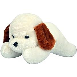 Richy Toys White Dog Cute Plush Soft Toys for Kids Birthday Gift 26 cm