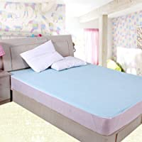Rite Clique Double Bed Sheet with Elastic Straps, Waterproof, Mattress Protecting (Sky Blue)