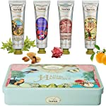 Un Air d'Antan® Set of 4 Premium Vintage French Hand Cream 4x25ml in a Lovely Tin Box, Perfume Verbena, Rose, Lily of the...