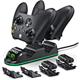 OIVO Controller Charging Dock with 2 x Rechargeable Battery Packs for Xbox One/Xbox Series X/S, Twin Charging Dock with 2 x 1