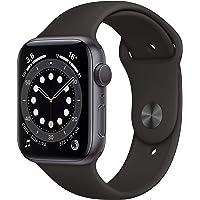 Apple Watch Series 6 (GPS, 44 mm) Boîtier en Aluminium Gris sidéral, Bracelet Sport Noir