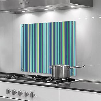 designersgroup - Küchenrückwand aus Plexiglas - Motiv: Blau-grüne ...