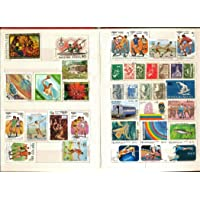 IHC 200 Plus Stamp Album with 100 All Different Used World Stamps Collection