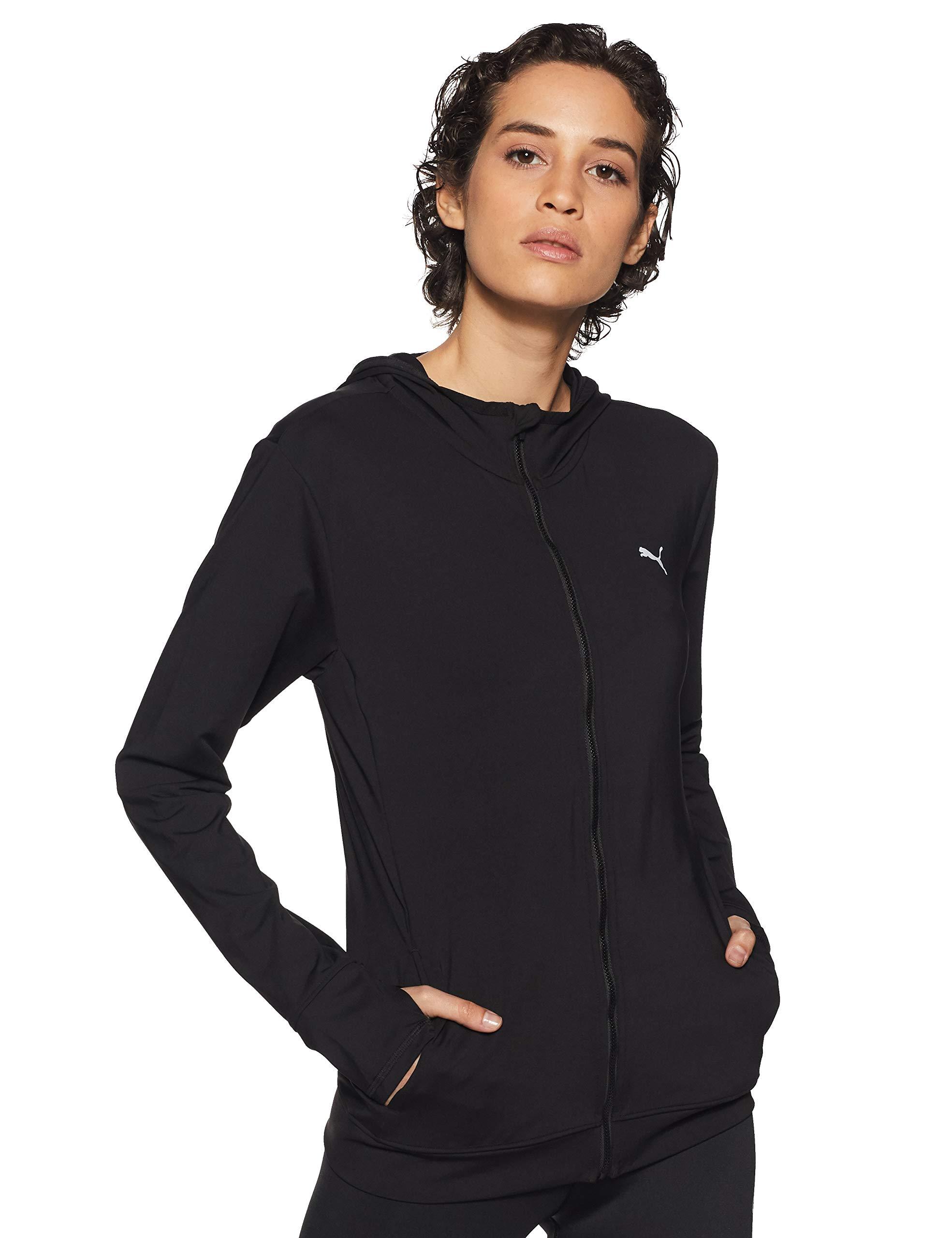 Dettagli su Puma essential jacket felpa donna nero s (Pwj)