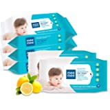 Mee Mee Caring Baby Wet Wipes with Lemon Fragrance (30 Pieces, Pack of 5)