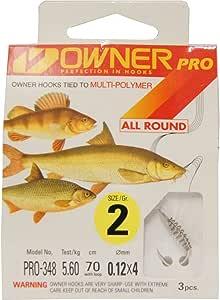 Einzelhaken f/ür Wei/ßfische Owner Stippen Rotauge 17 Angelhaken zum Stippangeln auf Rotaugen /& Brassen Haken f/ür Friedfische Gr/ö/ße:14