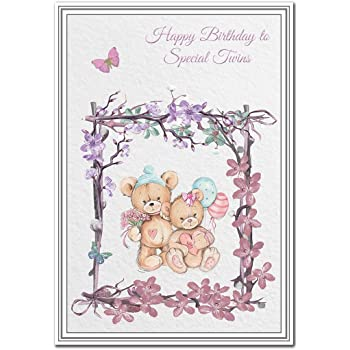 Birthday Card For Twins