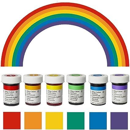 wilton lot de colorants alimentaires chaque couleur poids net 28g - Gel Colorant Wilton