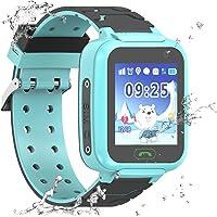 Enfants étanche Smartwatch GPS Tracker - Les Filles garçons IP67 résistant à l'eau GPS LBS WiFi Tracker SOS Jeu de la…