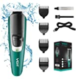 VGR V-176 Cordless Professional Hair Clipper Runtime: 120 min Trimmer for Men with 4Guide Comb (Green)