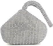 Dreamys Women Evening Clutch Triangle Design Rhinestones Wedding Purse Handbag for Party Prom