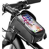 unibelin Borsa Telaio Bici, Borsa Bici Cellulare Impermeabile Touchscreen TPU Bicicletta Borsa Ciclismo con Parasole Biciclet