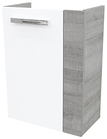 FACKELMANN 82593 Waschtischunterschrank, Holz, graueiche/weiß ... | {Waschtischunterschrank holz weiß 79}