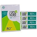 2500 Blatt Hochwertiges Premium Druck- und Kopierpapier von Copy & Laserpaper   DIN A4 80 g   weiß   Druckerpapier   Fax…