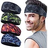 Juego de 4 cintas deportivas para hombre, cinta para el sudor deportiva para el transporte de la humedad, para correr, yoga y