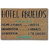 koko doormats felpudos Entrada casa Originales, Fibra de Coco y PVC, Felpudo Exterior Hotel Abuelos, 40x60x1.5 cm   Alfombra